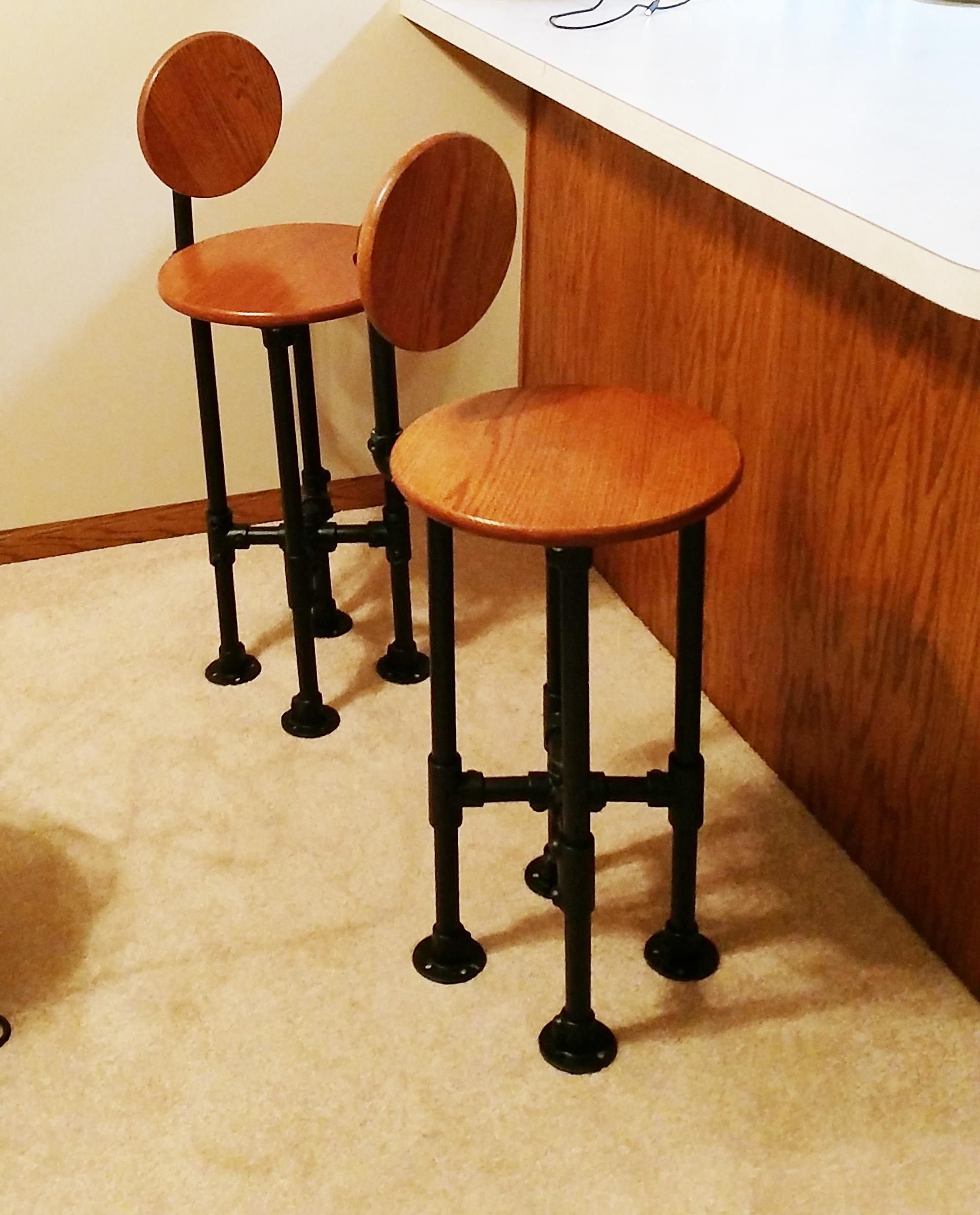 How To Build A Barstool With Pipe Diy Step By Step Plans