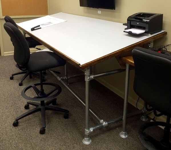 DIY Drafting Table Built with Kee Klamp