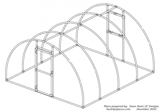 hoop house and high tunnel greenhouse designs | simplified building
