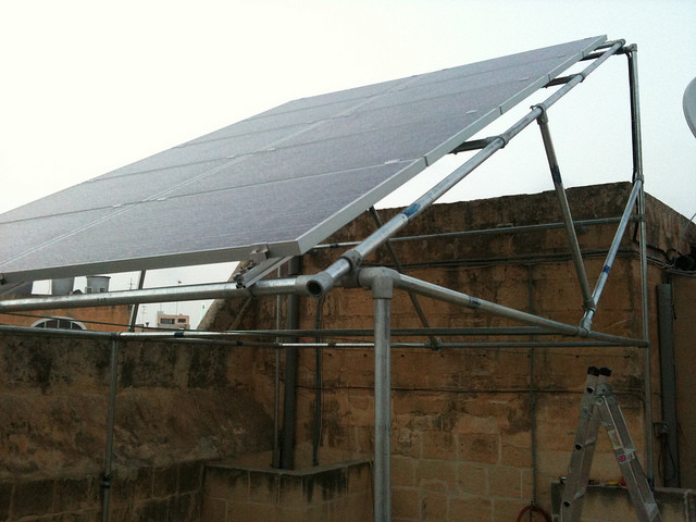 Solar Panel Support Structure Built In Malta Simplified
