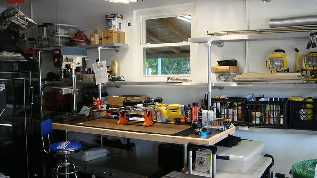 Custom Reloading Bench And Storage Shelves Simplified