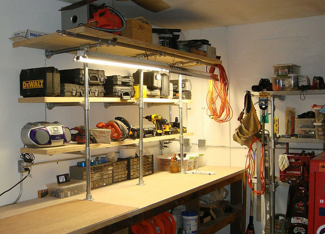 Man Cave Workshop Shelving Upgrade Simplified Building