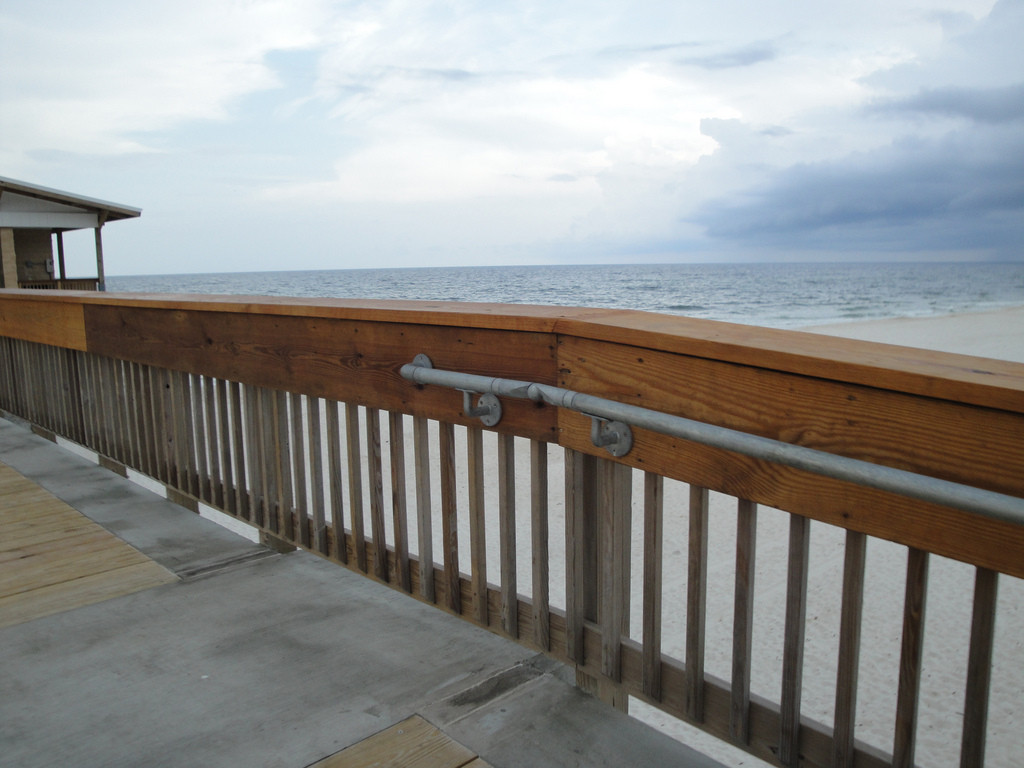 Ada Handrail Installed On Gulf Of Mexico S Longest Fishing