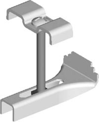 Grating Clip Secures Grating to Existing Steel Structure