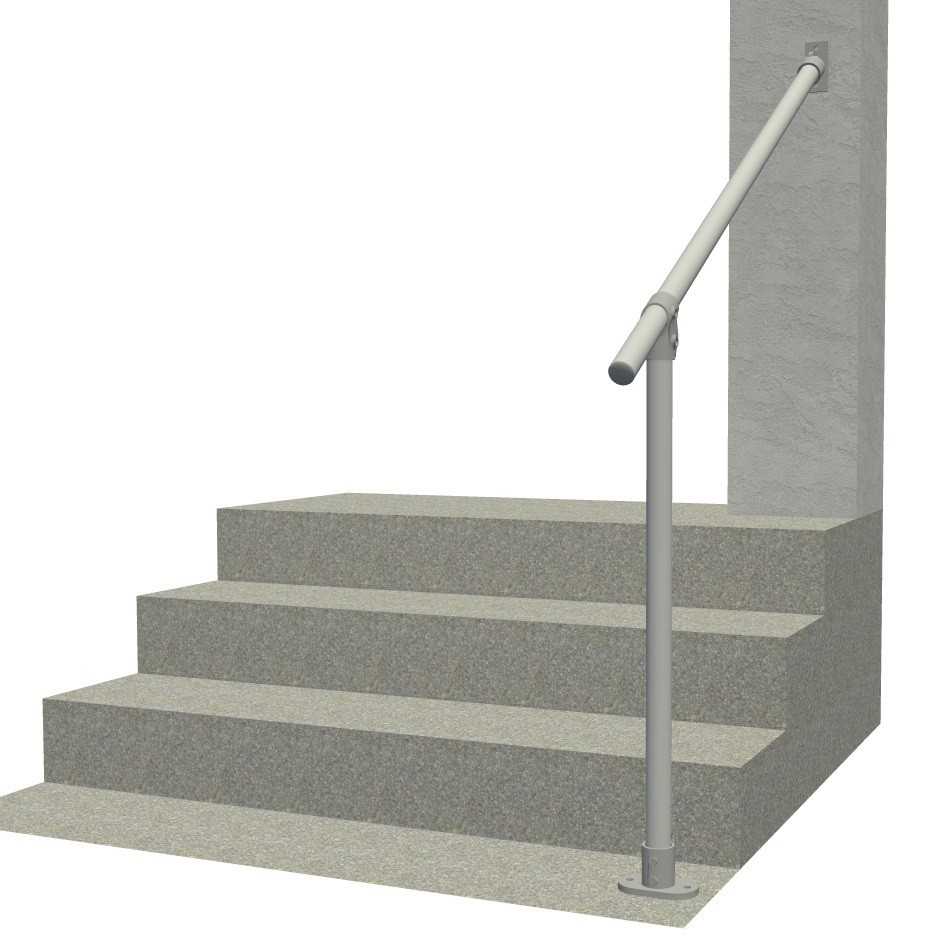 Hybrid 29/C58A - Aluminum Surface & Wall Mount Railing