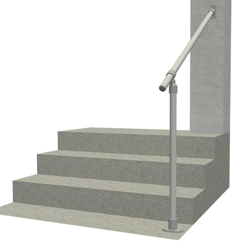 Hybrid C50/C58A - Aluminum Surface & Wall Mount Railing