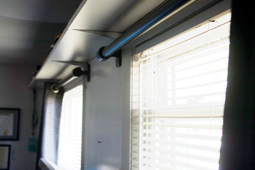 How to Build Industrial Style Curtain Rods
