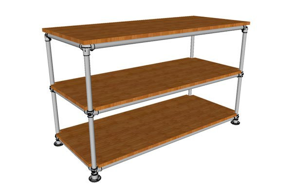Infill Box Pipe Shelf