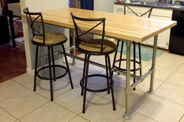 Swell 51 Diy Table Ideas Built With Pipe Simplified Building Gmtry Best Dining Table And Chair Ideas Images Gmtryco