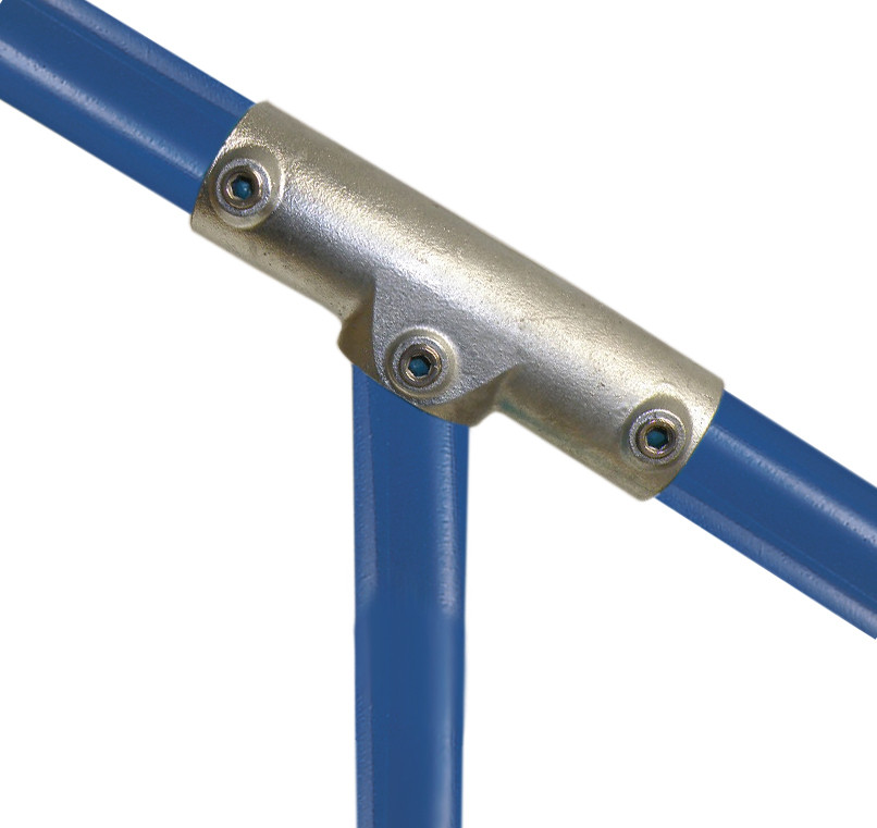Structural Fencing Fittings : Adjustable three socket tee simplified building
