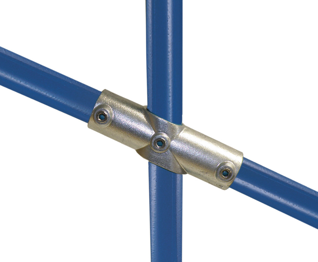 Structural Fencing Fittings : Adjustable two socket cross simplified building