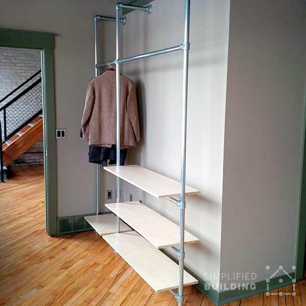 DIY Modern Coat Rack with Floating Shelves