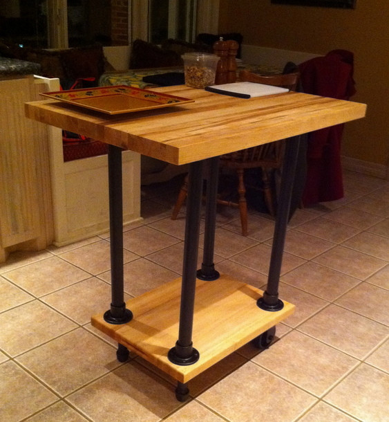 Build Michaela S Kitchen Island Diy Projects: DIY Movable Butcher Block Kitchen Island/Food Cart