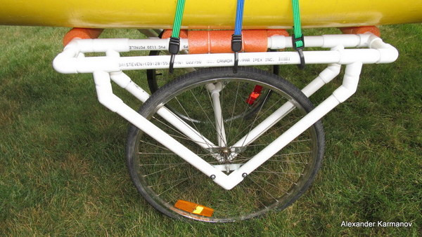 Pvc Canoe Dolly Complete Side