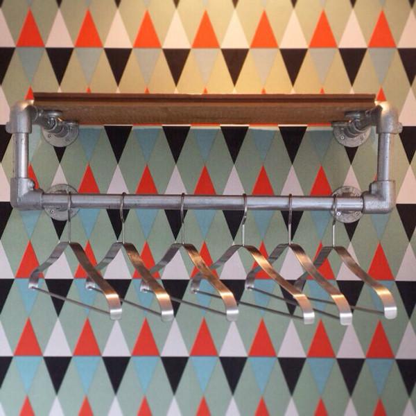 Floating Shelf with Clothing Rack