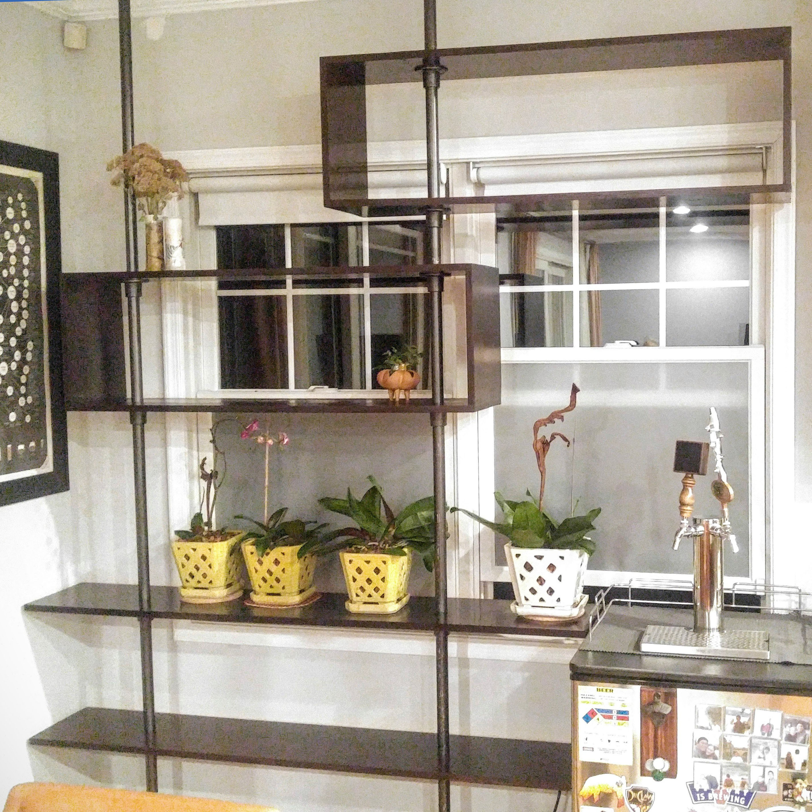 6af74765eb29 59 DIY Shelf Ideas Built With Industrial Pipe | Simplified Building