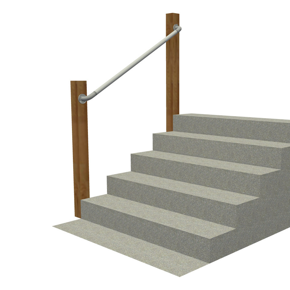 Wall 565   Wall Mounted Stair Railing, Easy Install Handrail | Simplified  Building