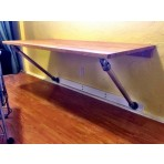 Wall Mounted Desk with Angled Supports