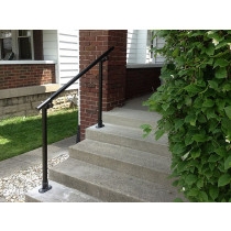 Flat Black 518 - Surface Mount Handrail