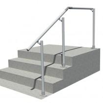 Classic Offset Landing Simple Rail Handrail