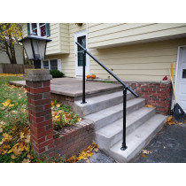 Flat Black C50 - Surface Mount Handrail