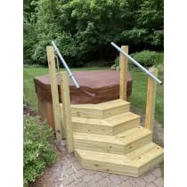 Classic Wall Mount Simple Rail Handrail
