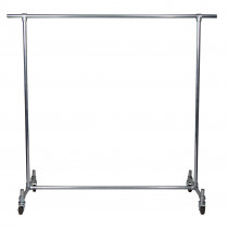 Single Bar Clothing Rack with Feature Ends