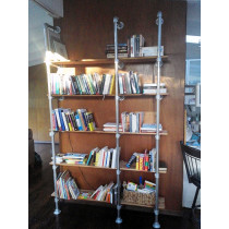 Wall & Base Mounted Pipe Shelf