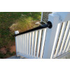 Post Mounted Porch Railing Installation - Painted Black [c]