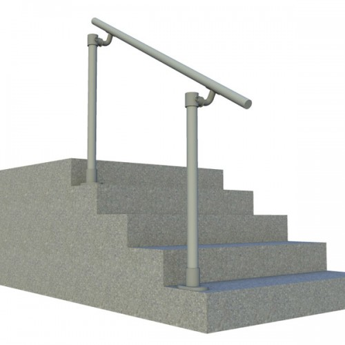 4 Step Handrail Kits : Surface mount railing simplified building